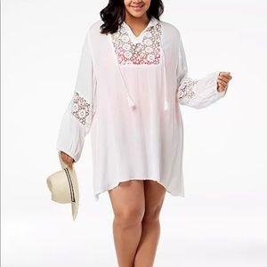 Raviya Crochet Tunic Swimsuit Cover Up Dress